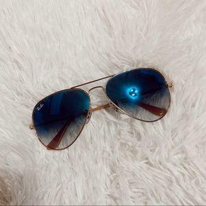 Ray-ban blue ombré aviators sunglasses